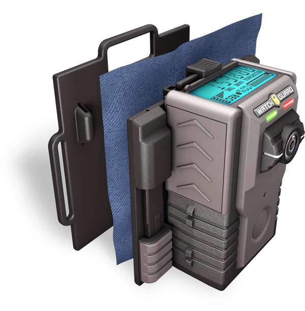 Police Body Camera Chest Mount Illustration
