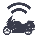 Icon - Wireless Upload from Motorcycle