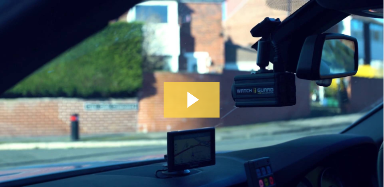 UK police car has WatchGuard in-car video system.