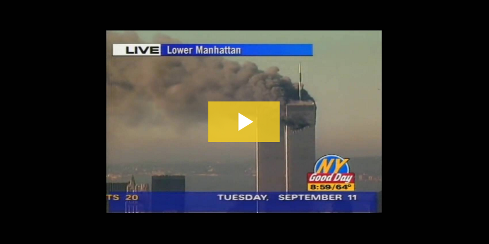 News coverage of New York during 9/11.